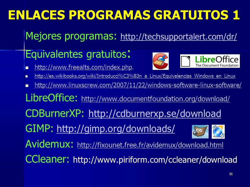 ENLACES PROGRAMAS GRATUITOS 1