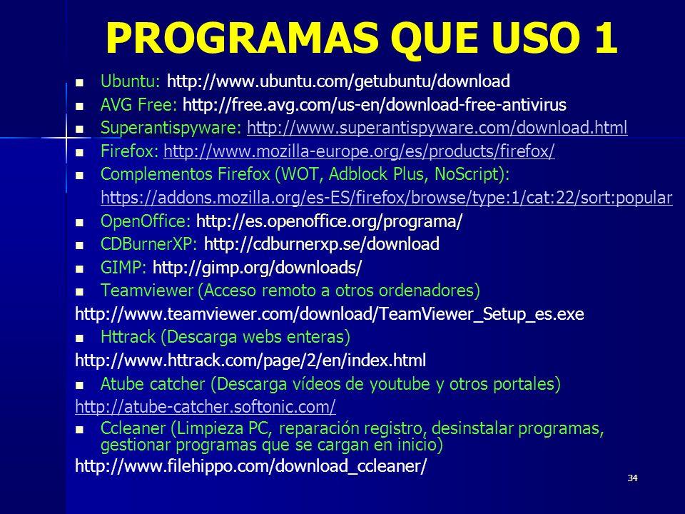 PROGRAMAS QUE USO 1 Ubuntu: http://www.ubuntu.com/getubuntu/download