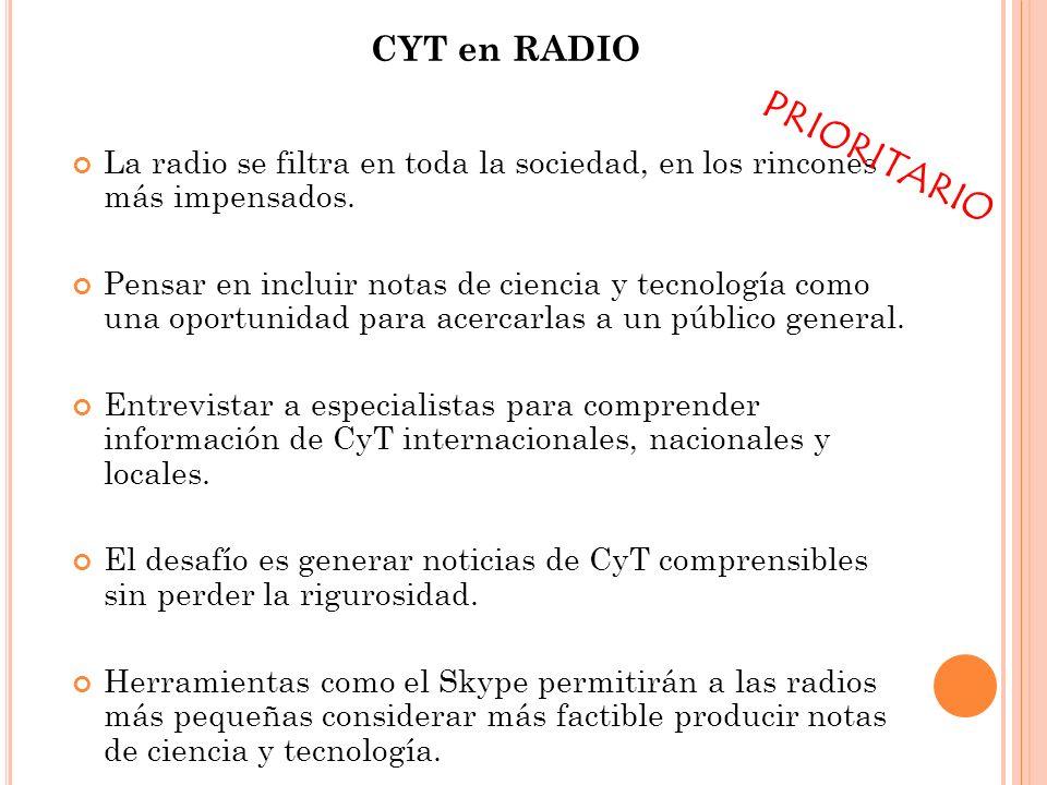 PRIORITARIO CYT en RADIO