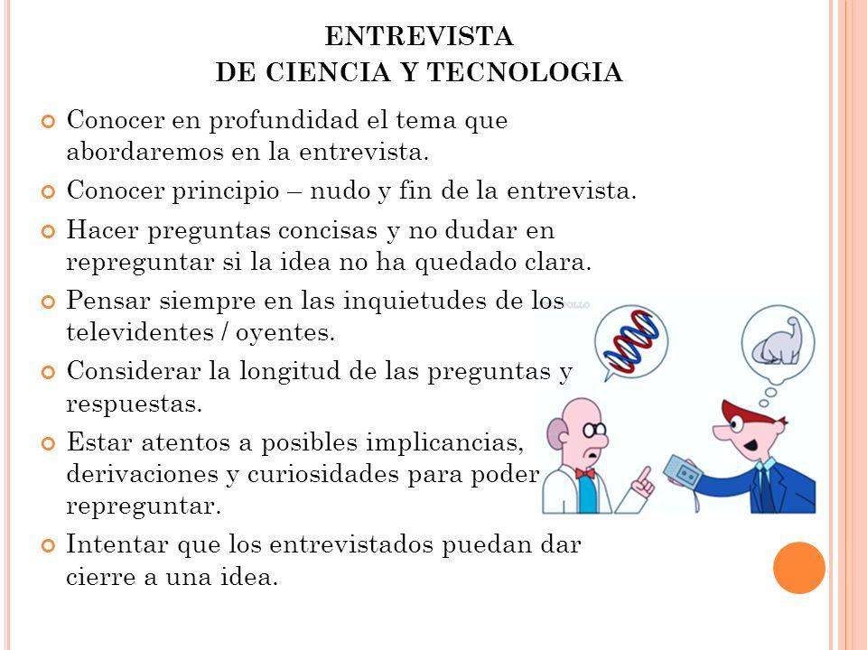 DE CIENCIA Y TECNOLOGIA