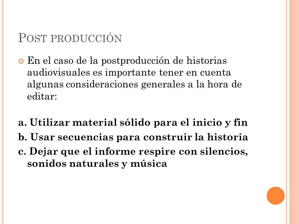 Post producción