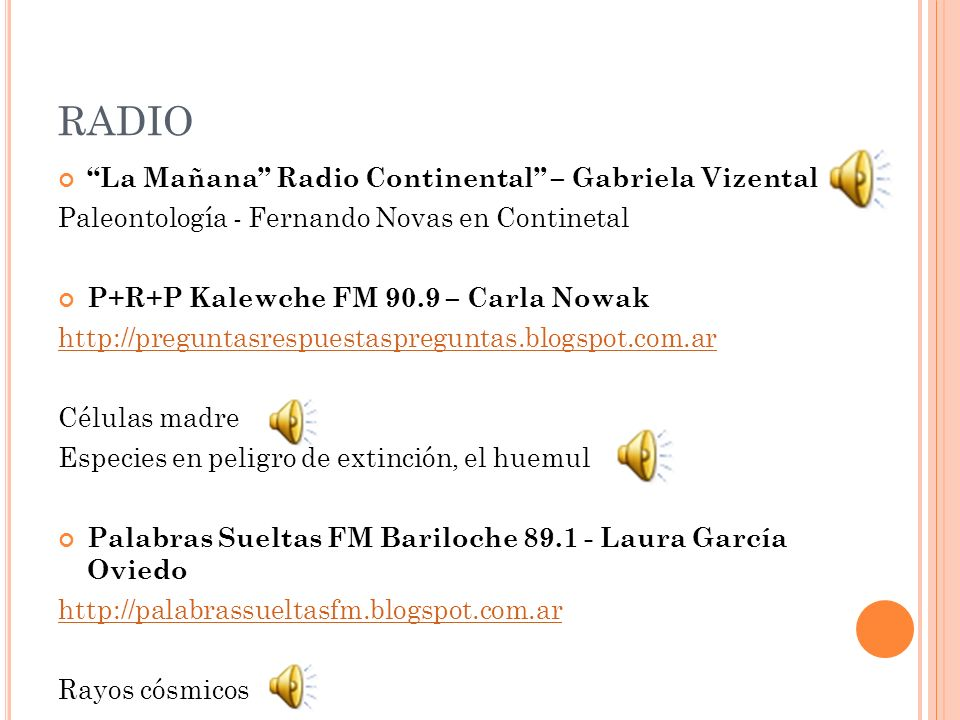 RADIO La Mañana Radio Continental – Gabriela Vizental