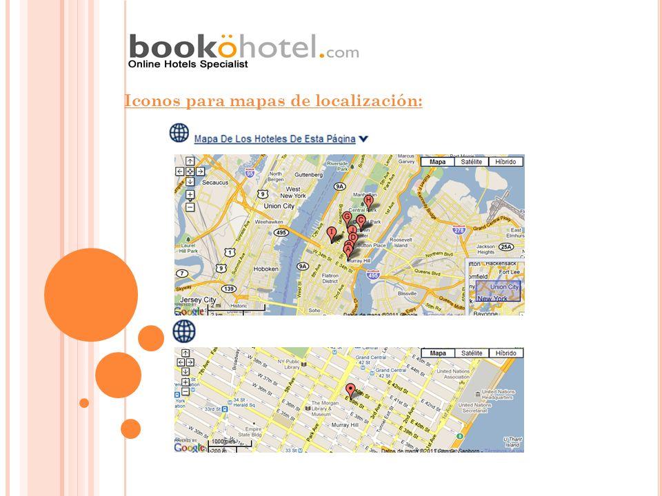 Iconos para mapas de localización: