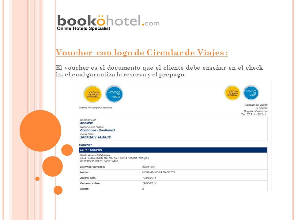 Voucher con logo de Circular de Viajes :