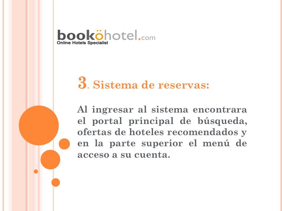 3. Sistema de reservas: