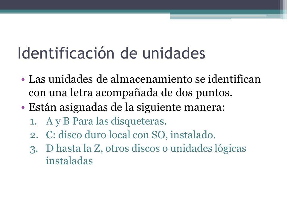 Identificación de unidades
