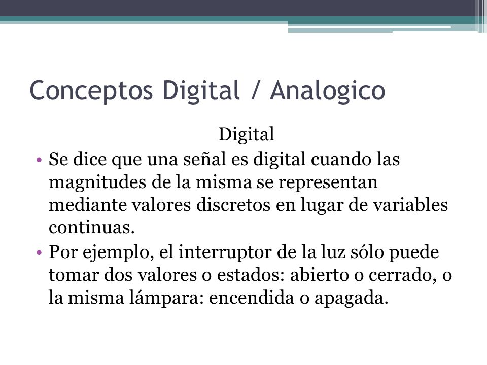 Conceptos Digital / Analogico
