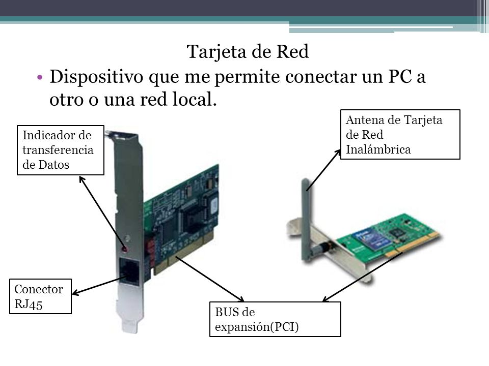 Dispositivo que me permite conectar un PC a otro o una red local.
