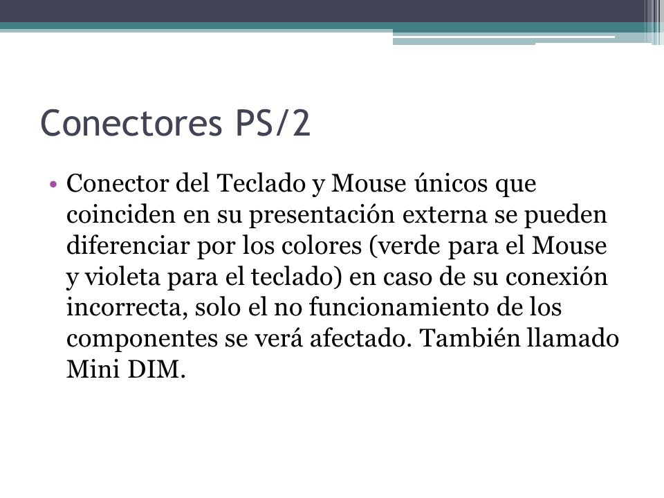 Conectores PS/2