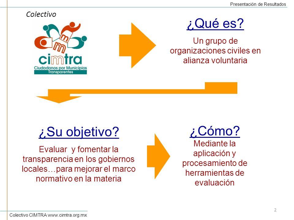 Un grupo de organizaciones civiles en alianza voluntaria