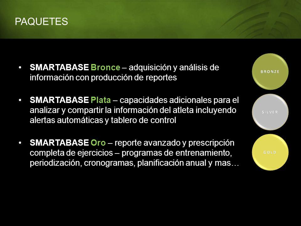 PAQUETES BRONZE. SMARTABASE Bronce – adquisición y análisis de información con producción de reportes.