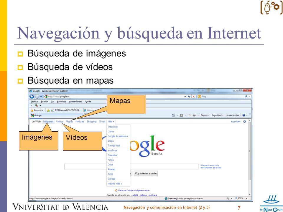 Navegación y búsqueda en Internet