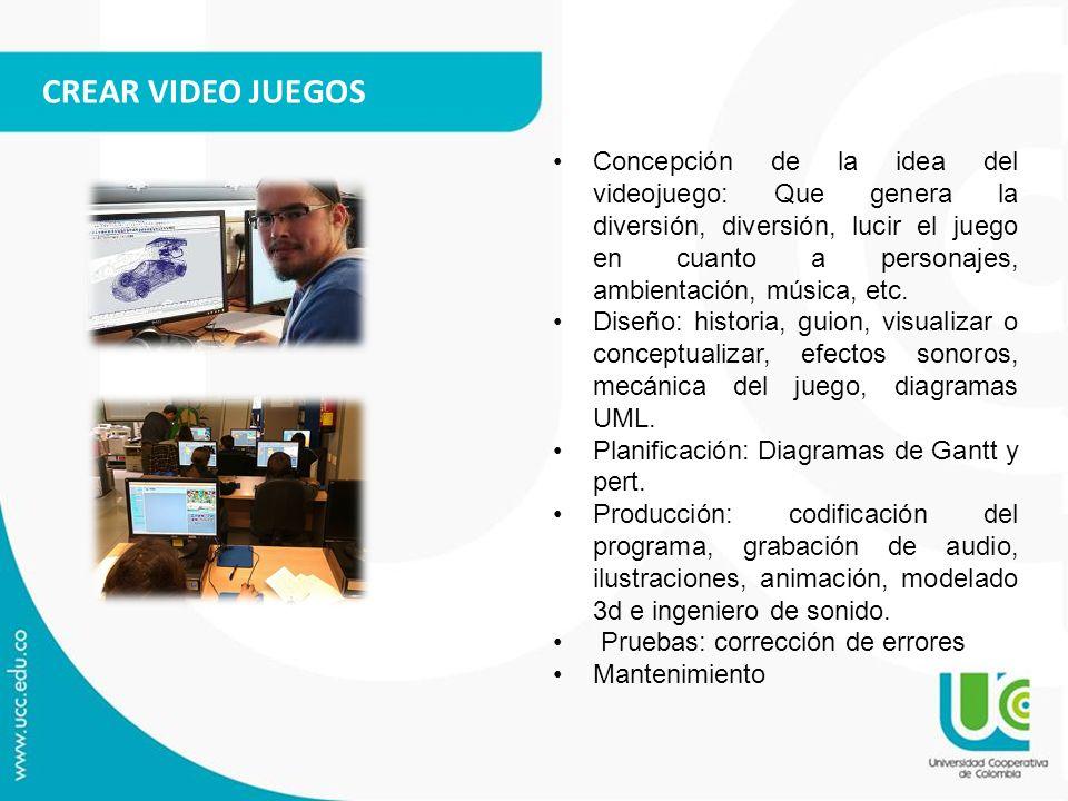 CREAR VIDEO JUEGOS