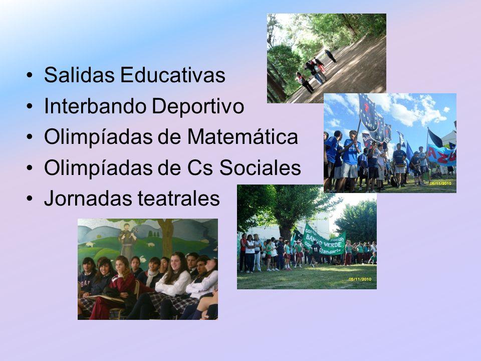 Salidas Educativas Interbando Deportivo. Olimpíadas de Matemática.