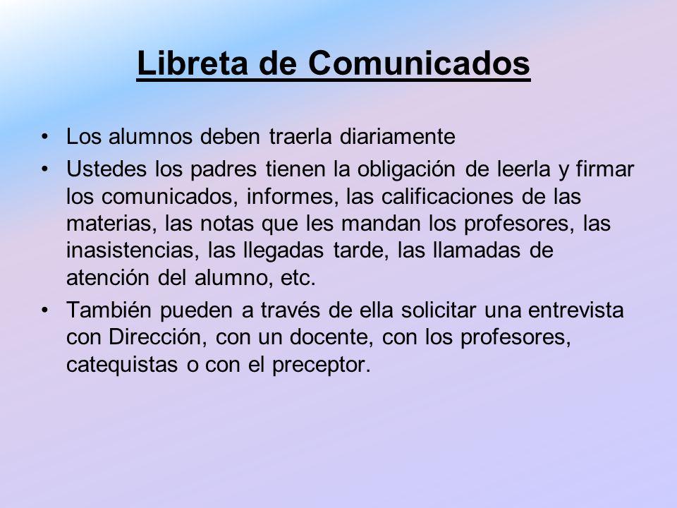 Libreta de Comunicados