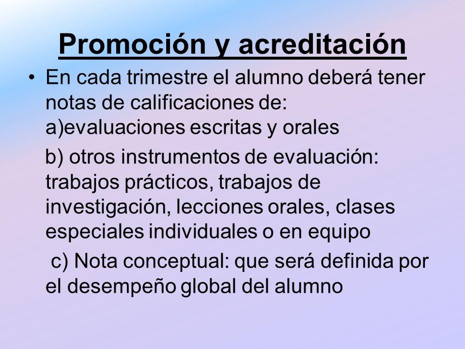 Promoción y acreditación