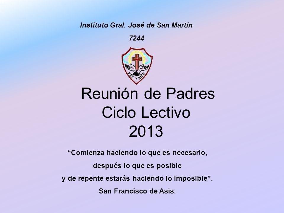 Reunión de Padres Ciclo Lectivo 2013