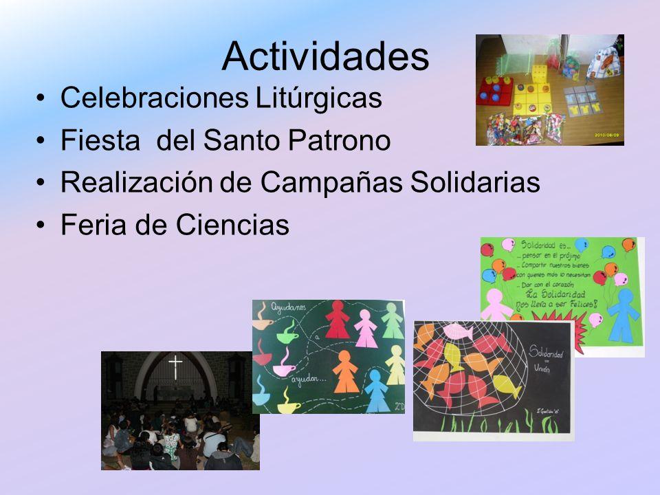 Actividades Celebraciones Litúrgicas Fiesta del Santo Patrono
