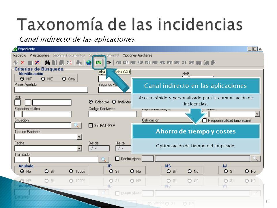 Taxonomía de las incidencias