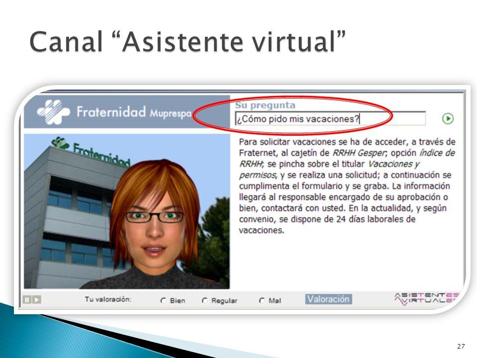 Canal Asistente virtual