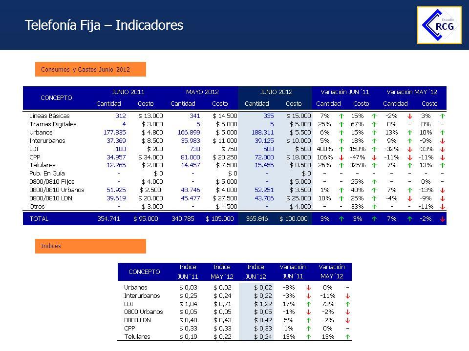Telefonía Fija – Indicadores