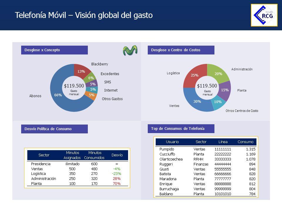 Telefonía Móvil – Visión global del gasto