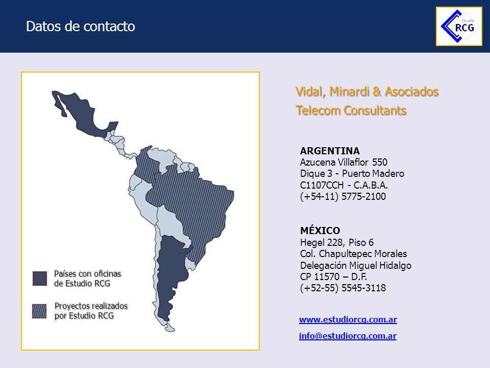 Datos de contacto Vidal, Minardi & Asociados Telecom Consultants