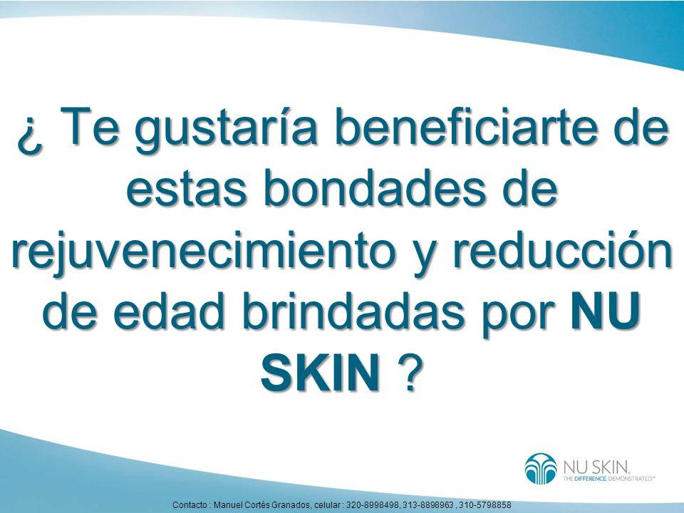 ¿ Te gustaría beneficiarte de estas bondades de rejuvenecimiento y reducción de edad brindadas por NU SKIN