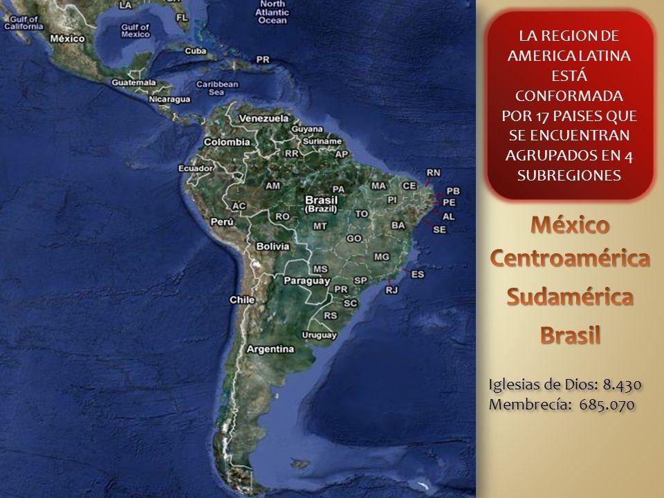 México Centroamérica Sudamérica Brasil