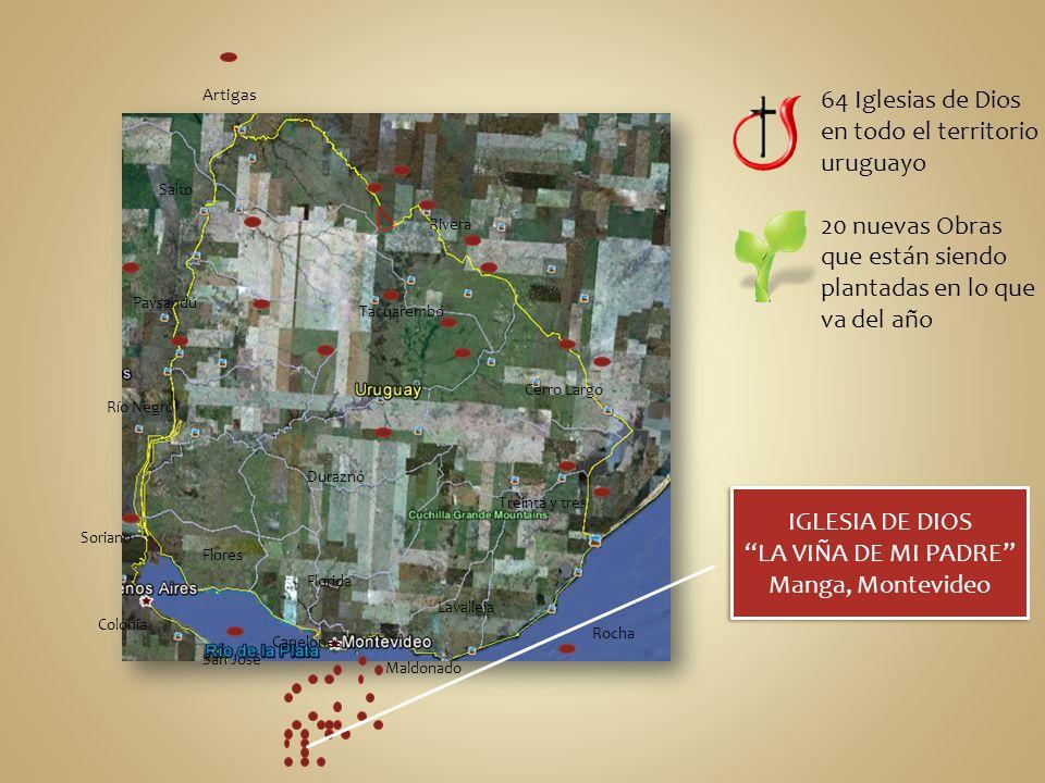 64 Iglesias de Dios en todo el territorio uruguayo