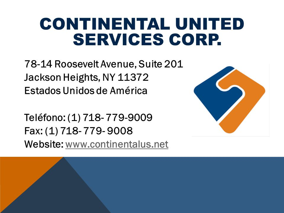 CONTINENTAL UNITED SERVICES CORP.