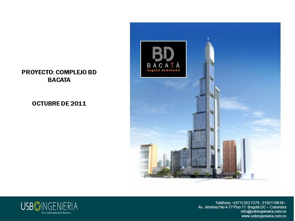 PROYECTO: COMPLEJO BD BACATA
