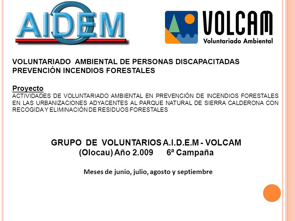 GRUPO DE VOLUNTARIOS A.I.D.E.M - VOLCAM