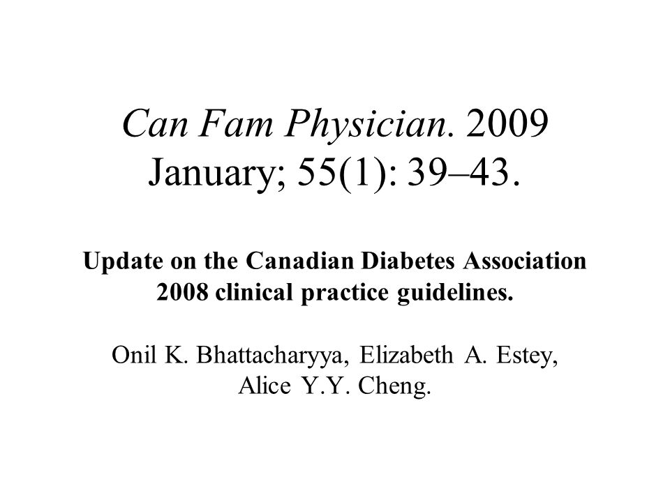 Can Fam Physician. 2009 January; 55(1): 39–43
