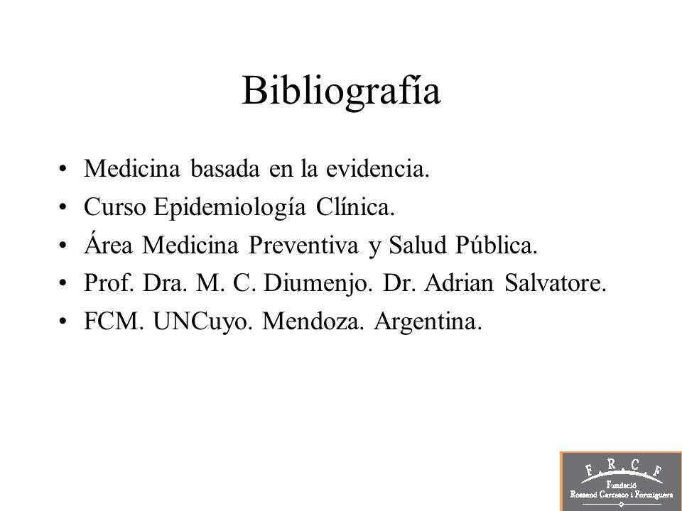 Bibliografía Medicina basada en la evidencia.