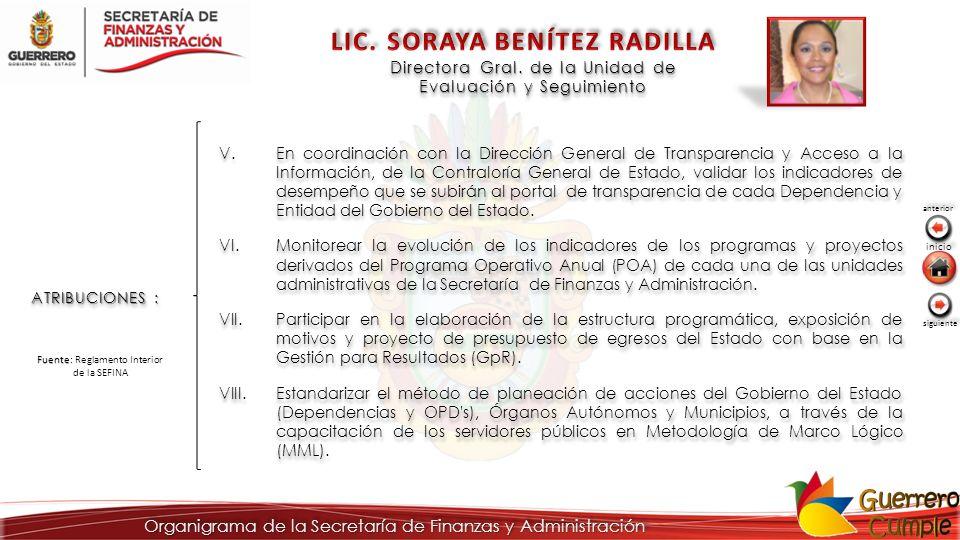 LIC. SORAYA BENÍTEZ RADILLA