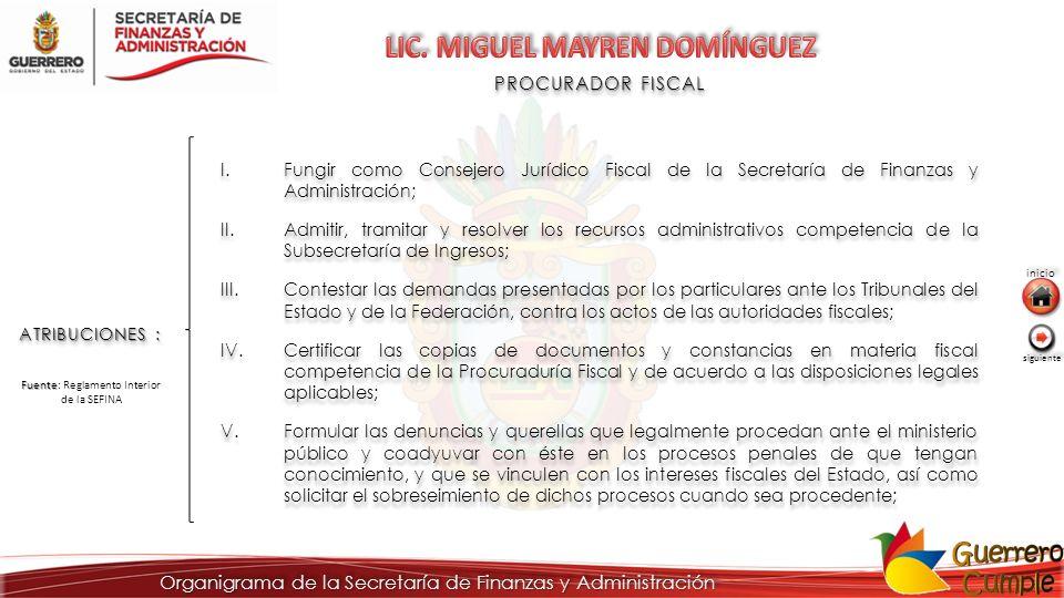 LIC. MIGUEL MAYREN DOMÍNGUEZ