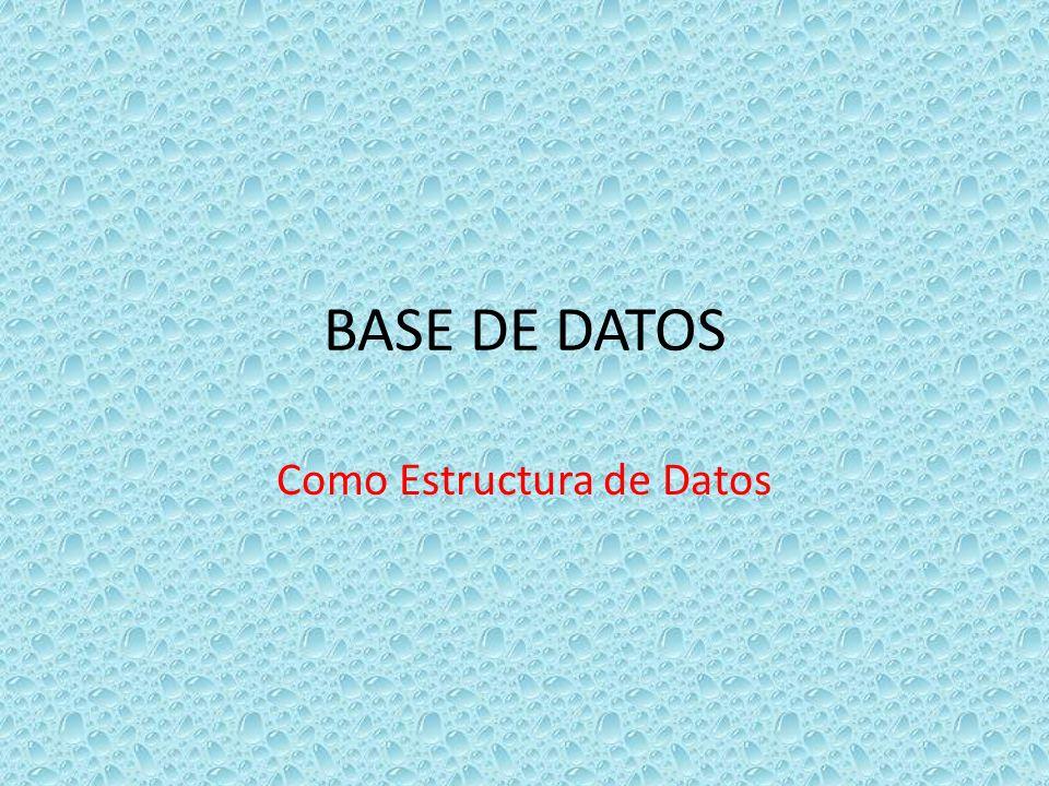 Como Estructura de Datos