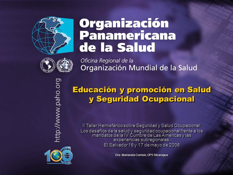 Educación y promoción en Salud y Seguridad Ocupacional