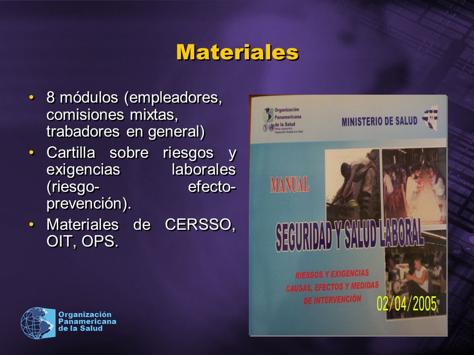 Materiales 8 módulos (empleadores, comisiones mixtas, trabadores en general)