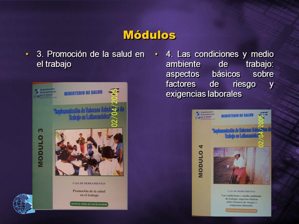 Módulos 3. Promoción de la salud en el trabajo
