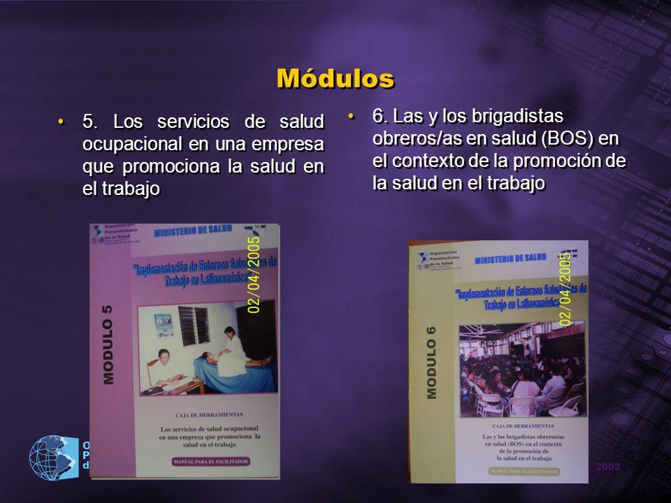 Módulos 6. Las y los brigadistas obreros/as en salud (BOS) en el contexto de la promoción de la salud en el trabajo.