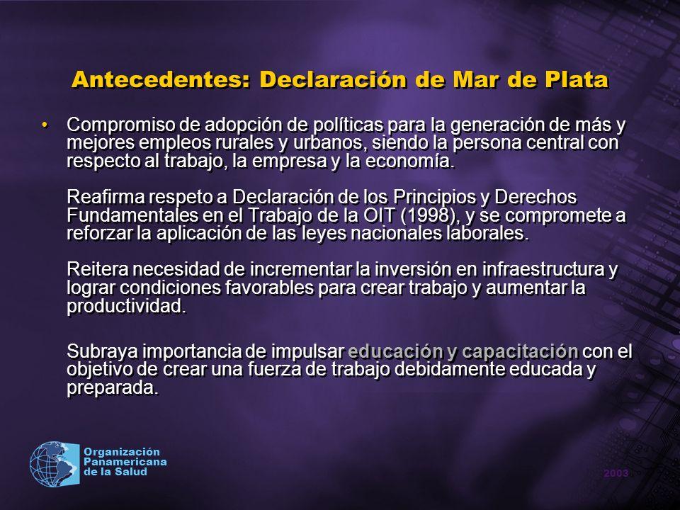 Antecedentes: Declaración de Mar de Plata