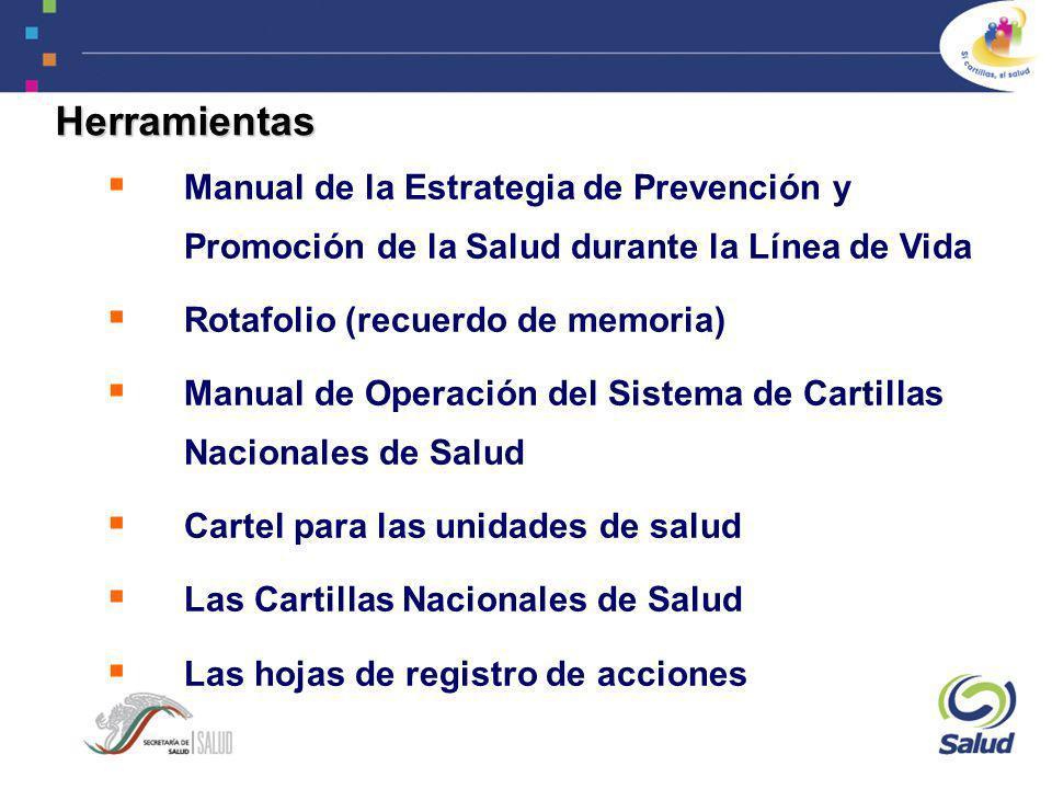 Herramientas Manual de la Estrategia de Prevención y Promoción de la Salud durante la Línea de Vida.