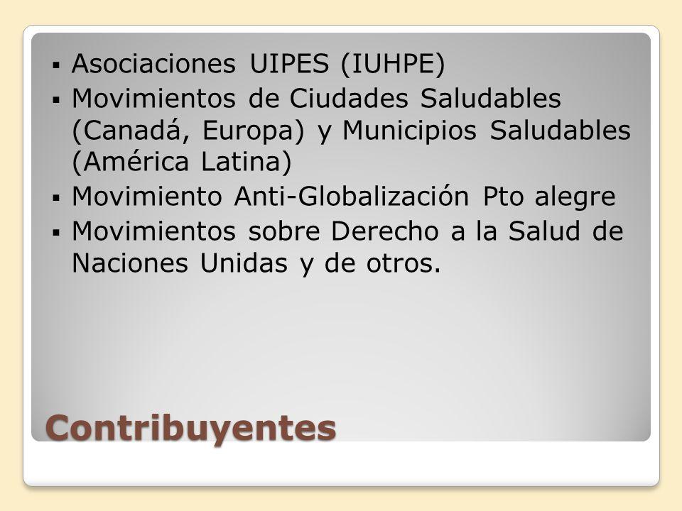 Contribuyentes Asociaciones UIPES (IUHPE)