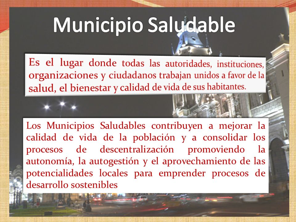 Municipio Saludable
