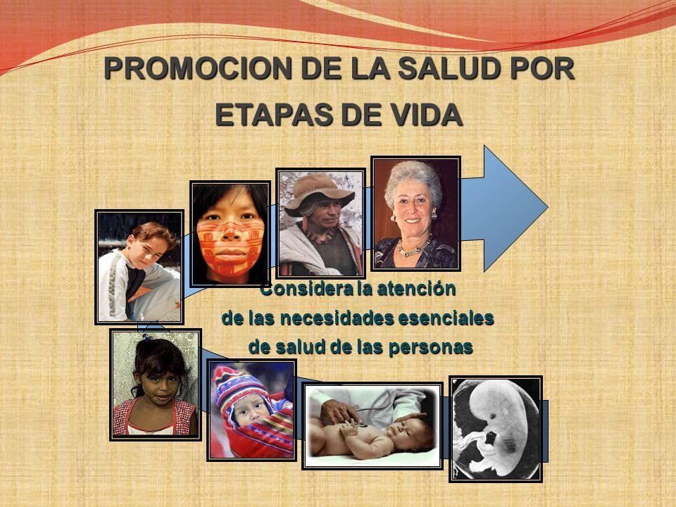 PROMOCION DE LA SALUD POR ETAPAS DE VIDA