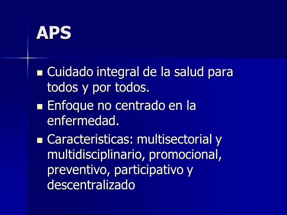 APS Cuidado integral de la salud para todos y por todos.