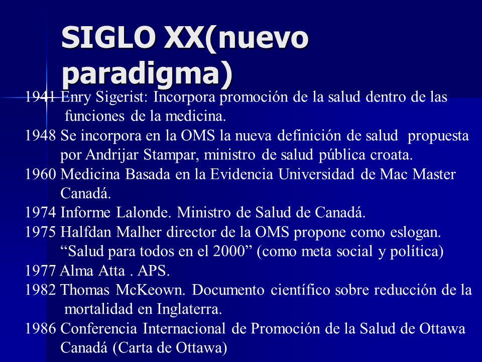 SIGLO XX(nuevo paradigma)