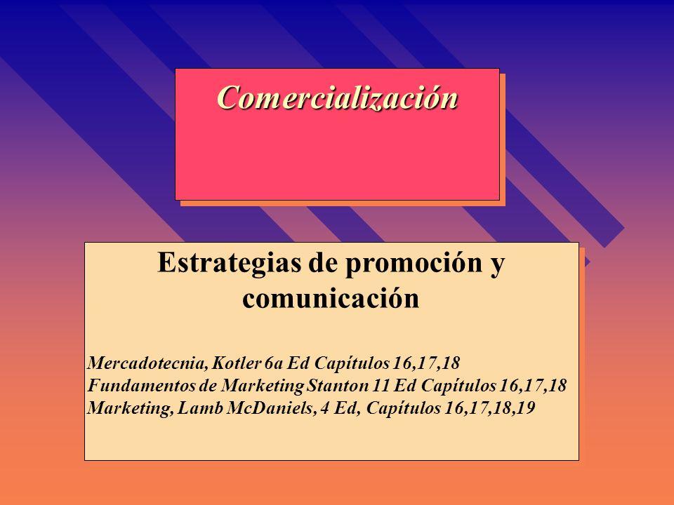 Estrategias de promoción y comunicación
